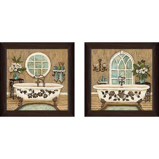 """""""Country Bath"""" Wall Art Set of 2, Matching Set"""