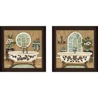 """Country Bath"" Wall Art Set of 2, Matching Set"