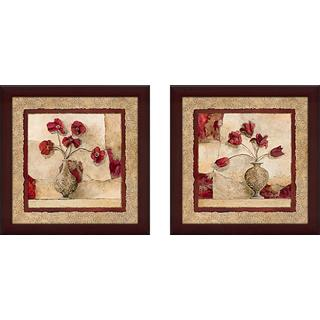 """Cinq Tulipes"" Wall Art Set of 2, Matching Set"