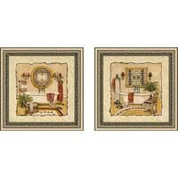 """Art Deco Bath"" Wall Art Set of 2, Matching Set"