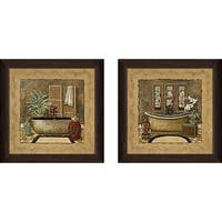 """Asian Warmth"" Wall Art Set of 2, Matching Set"