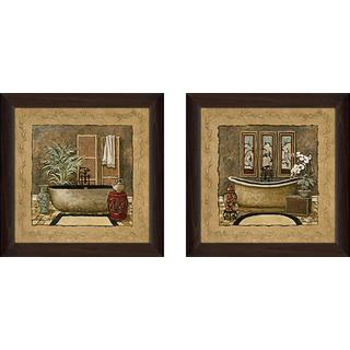"""Asian Warmth"" Wall Art Set of 2, Matching Set"