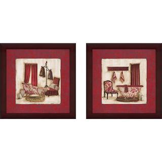 """""""Ruby Romance"""" Wall Art Set of 2, Matching Set"""