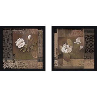 """Rose Tapestry"" Wall Art Set of 2, Matching Set"