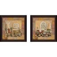 """Spiced Bath"" Wall Art Set of 2, Matching Set"