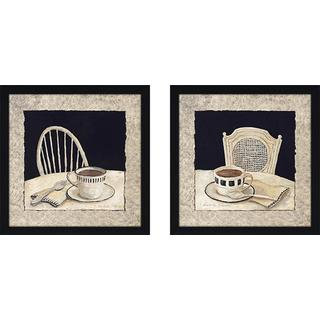 """""""Stay for Coffee"""" Wall Art Set of 2, Matching Set"""