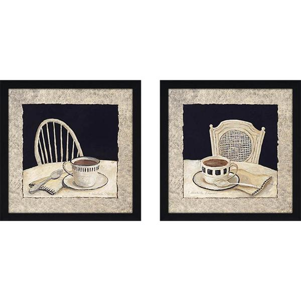 """Stay for Coffee"" Wall Art Set of 2, Matching Set"