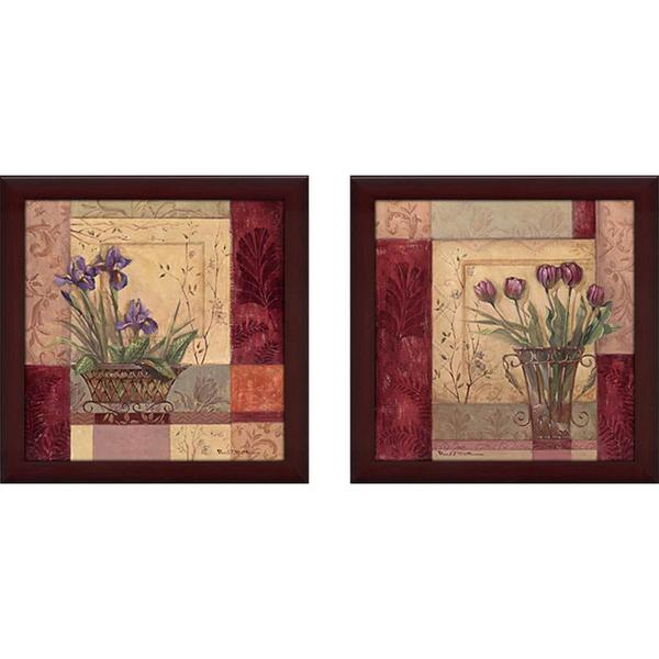 """Tulip Solitaire"" Wall Art Set of 2, Matching Set"