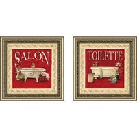 """Toilette"" Wall Art Set of 2, Matching Set"