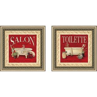 """""""Toilette"""" Wall Art Set of 2, Matching Set"""
