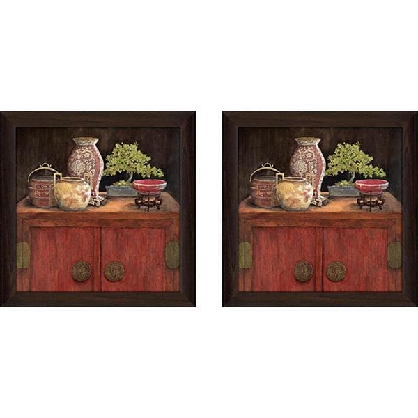 """Asian Appeal"" Wall Art Set of 2, Matching Set"