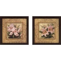 """""""Pretty in Pink Lilies"""" Wall Art Set of 2, Matching Set"""