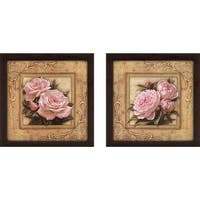 """""""Pretty in Pink Peonies"""" Wall Art Set of 2, Matching Set"""