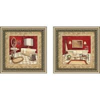 """Salon Rouge"" Wall Art Set of 2, Matching Set"