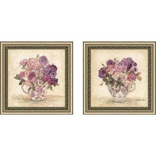 """Petite Bouquet"" Wall Art Set of 2, Matching Set"