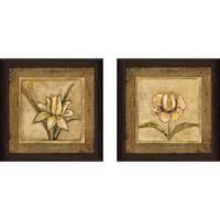 """Tulip Bronze"" Wall Art Set of 2, Matching Set"