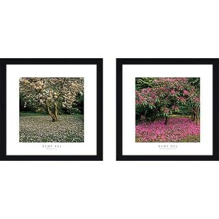 """""""Rhododendron"""" Wall Art Set of 2, Matching Set"""