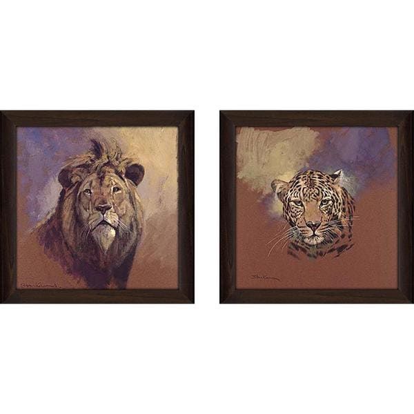 """Leopard"" Wall Art Set of 2, Matching Set"