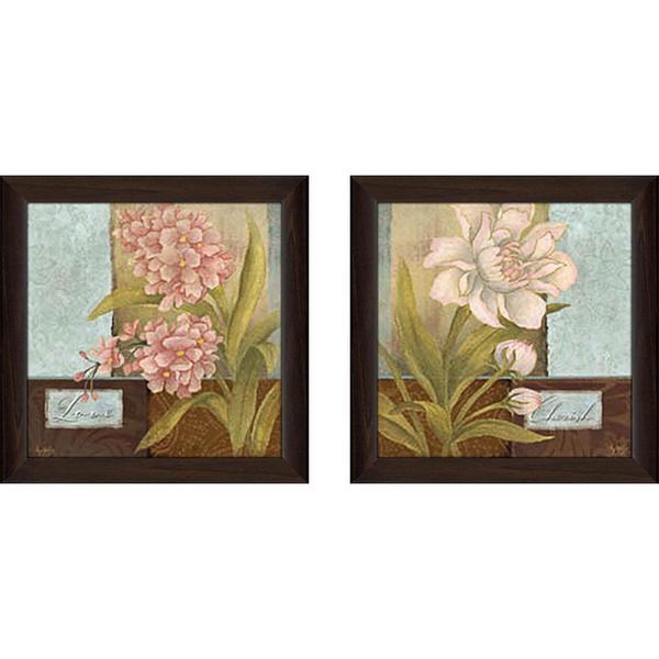 """""""Inspirational Flower"""" Wall Art Set of 2, Matching Set"""