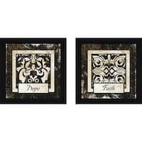 """Faith"" Wall Art Set of 2, Matching Set"