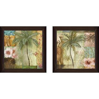 """""""Palm Coast"""" Wall Art Set of 2, Matching Set"""