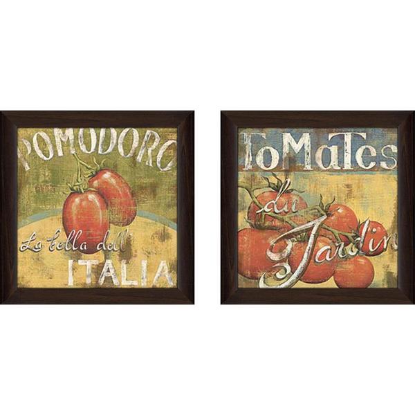 """""""Tomates"""" Wall Art Set of 2, Matching Set"""