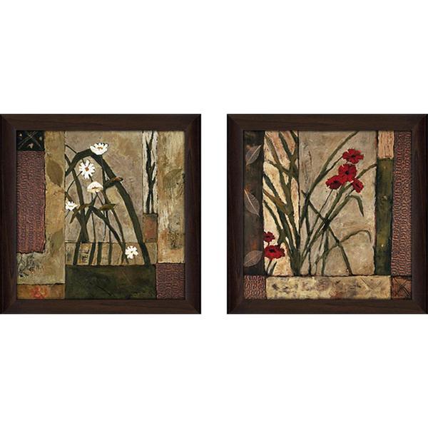 """Lilies"" Wall Art Set of 2, Matching Set"