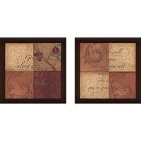 """Patchwork"" Wall Art Set of 2, Matching Set"