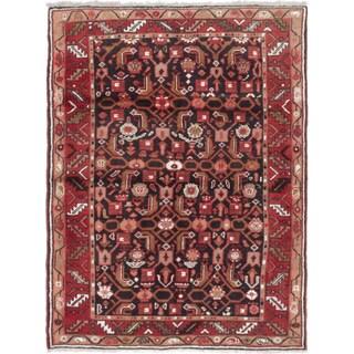 ecarpetgallery Hosseinabad Black, Red Wool Rug (3'7 x 4'8)