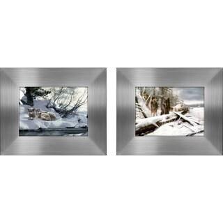 """""""Wolves I """" Mini Framed Art Set"""