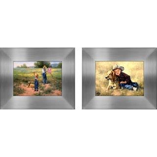 """""""Grandson & Dog """" Mini Framed Art Set"""
