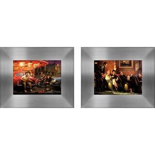 """Elvis, Marilyn Monroe, James Dean & Humphry Bogart II"" Mini Framed Art Set"