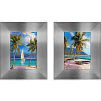 """Island Dream "" Mini Framed Art Set"