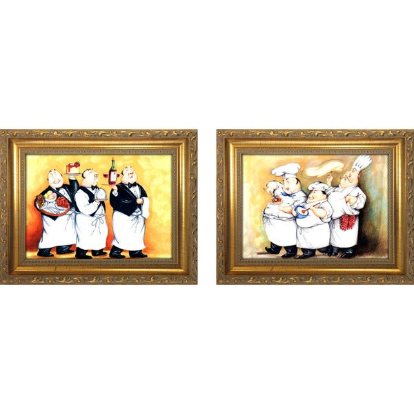 """Haute Cuisine II "" Mini Framed Art Set"