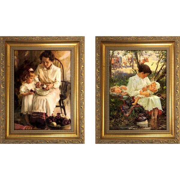 """""""Apple of Her Eye """" Mini Framed Art Set"""