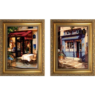 """Cafe at Sunrise, Paris "" Mini Framed Art Set"