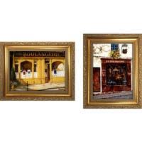 """""""Auberg Provencale """" Mini Framed Art Set"""