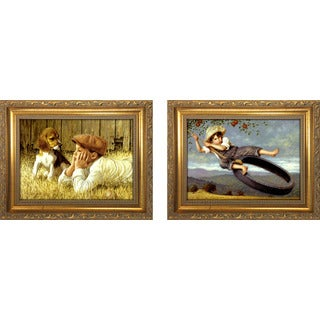"""The Conversation "" Mini Framed Art Set"