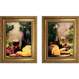 """Wine Club II "" Mini Framed Art Set"