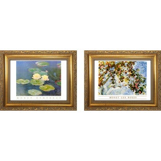 """Monet Les Roses "" Mini Framed Art Set"