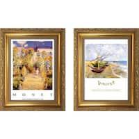 """Bateaux a Saintes maries "" Mini Framed Art Set"