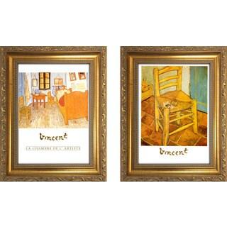 """""""Vincent Van Gogh 4 """" Mini Framed Art Set"""