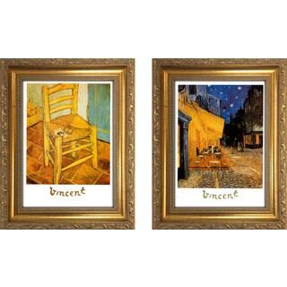 """""""Vincent Van Gogh 6 """" Mini Framed Art Set"""