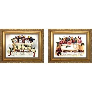 """Bath and Beauties "" Mini Framed Art Set"