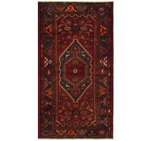 Herat Oriental Persian Hand-knotted Hamadan Wool Rug (3'7 x 6'6)