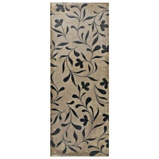 SomerTile 5.875x15.75-inch Siempre Cream Flower Ceramic Wall Tile (16/Case, 10.9 sqft.)