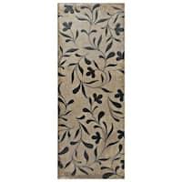 SomerTile 5.875x15.75-inch Siempre Cream Flower Ceramic Wall Tile (16 tiles/10.9 sqft.)