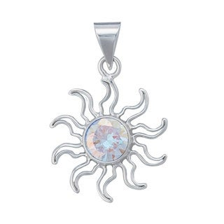 Handmade Sterling Silver Cubic Zirconia Pendant (Mexico)