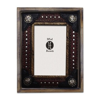 HiEnd Accents Wood W/Resin Lthr Insert Frame (Ea) 4X6