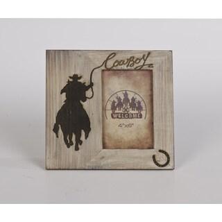 HiEnd Accents Wood Cowboy Frame 4 X 6